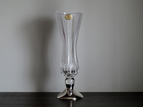 rihimaki cut glass vase